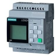 LOGO! 24RCE, logic module,Display PS/I/O: 24 V AC/24 V DC/relay, 8 DI/4 DO, memory 400 blocks, modular expandable, Ethernet, integr. web server, data