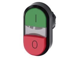 Двойная Кнопка Красно-Зеленая, Twin Pushbutton, 22Mm, Round, Plastic, Green: I, Red: O, Flat And Raised Buttons,3Su10003Bb420Ak0