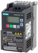 SINAMICS V20 200-240 V 1-phase-AC -10/+10 Rated power 0.75/1 PS with 150% overload for 60 sec. Integ