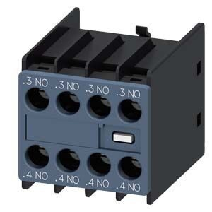 AUX. SWITCH BLOCK , 4NO COND. PATHS: 1NO, 1NO, 1NO, 1NO F. CONT. RELAYS A. MOTOR CONT. SZ S00 AND S0, 3RH29111FA40